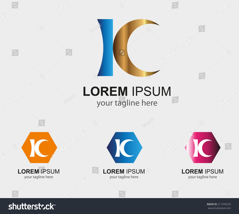 Kc Letter Logo Symbol K Letter Stock Vector Royalty Free 211976233
