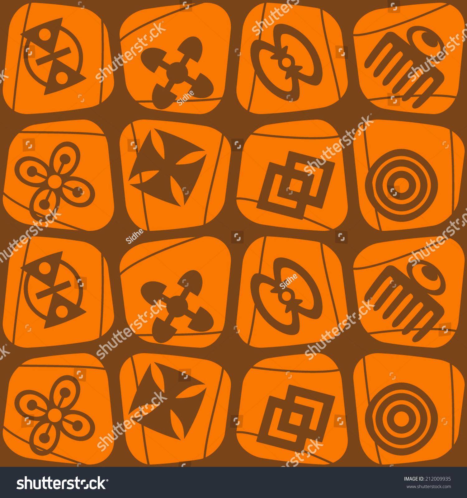 Seamless background adinkra symbols stock vector 212009935 seamless background with adinkra symbols biocorpaavc Images