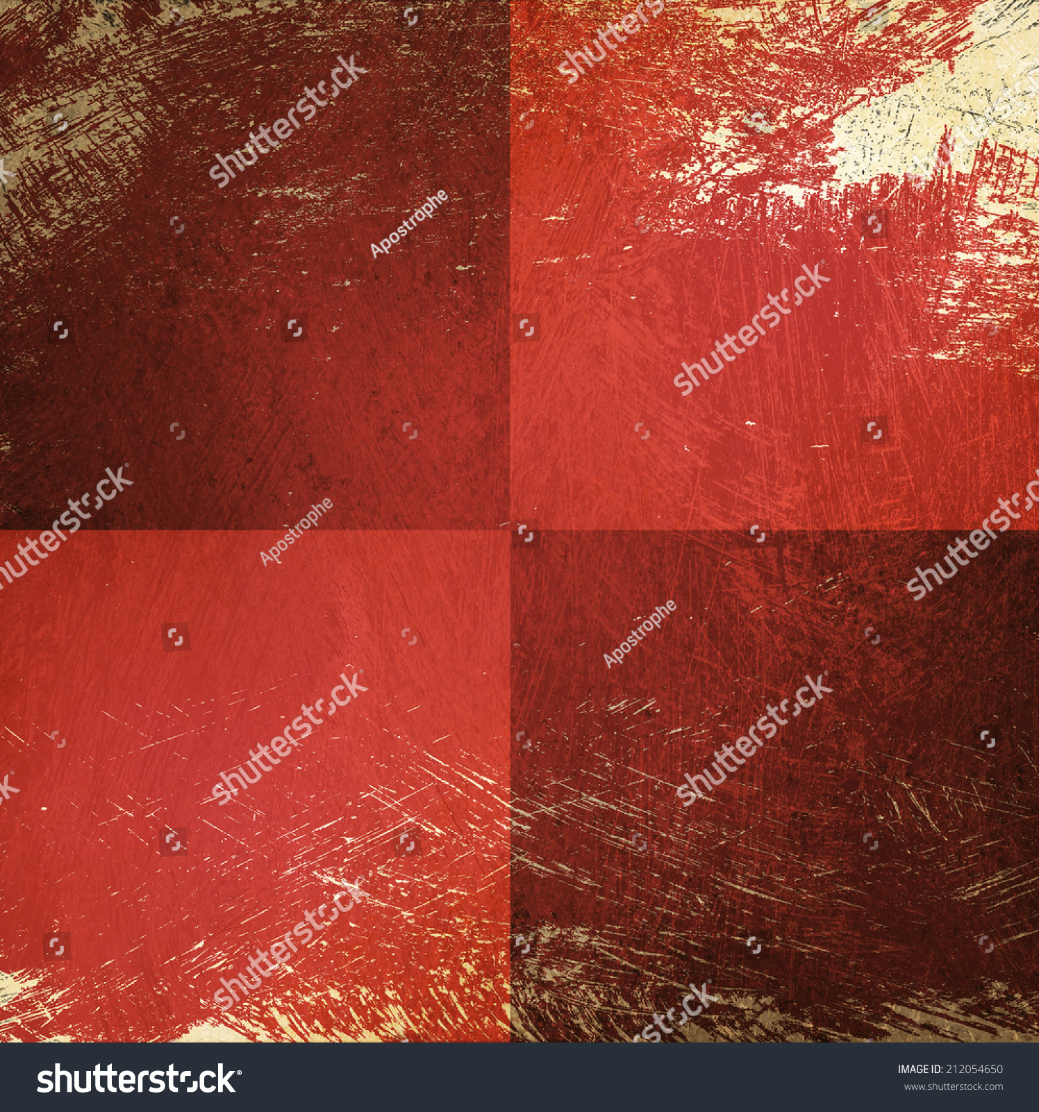 Red Checkerboard Pattern Background Beige Peeling Stock Illustration ...