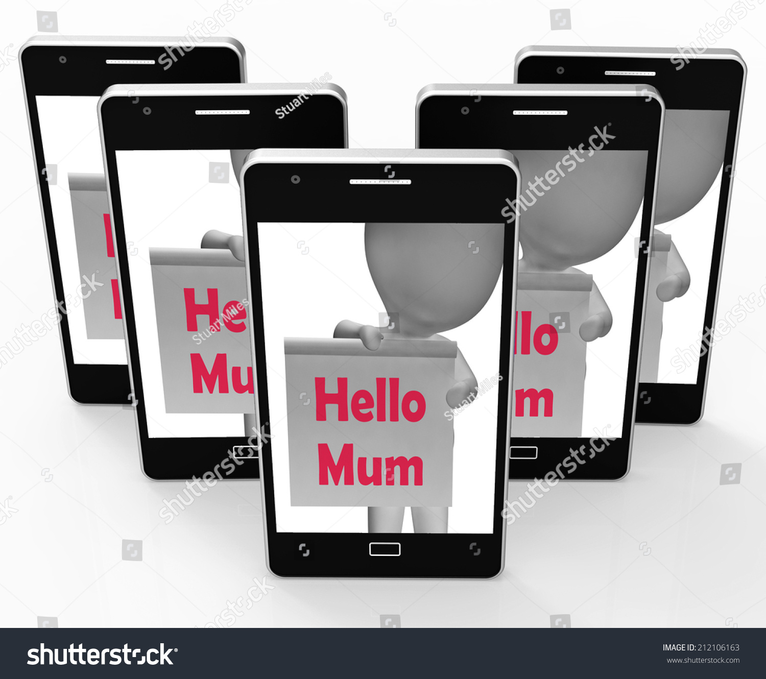 Hello Mum Sign Meaning Greetings Mother Stock Illustration 212106163