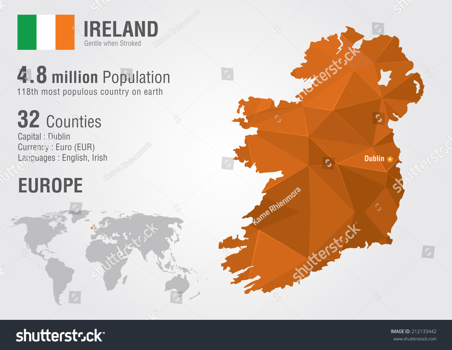 Ireland world map pixel diamond texture vectores en stock 212133442 ireland world map pixel diamond texture vectores en stock 212133442 shutterstock gumiabroncs Image collections
