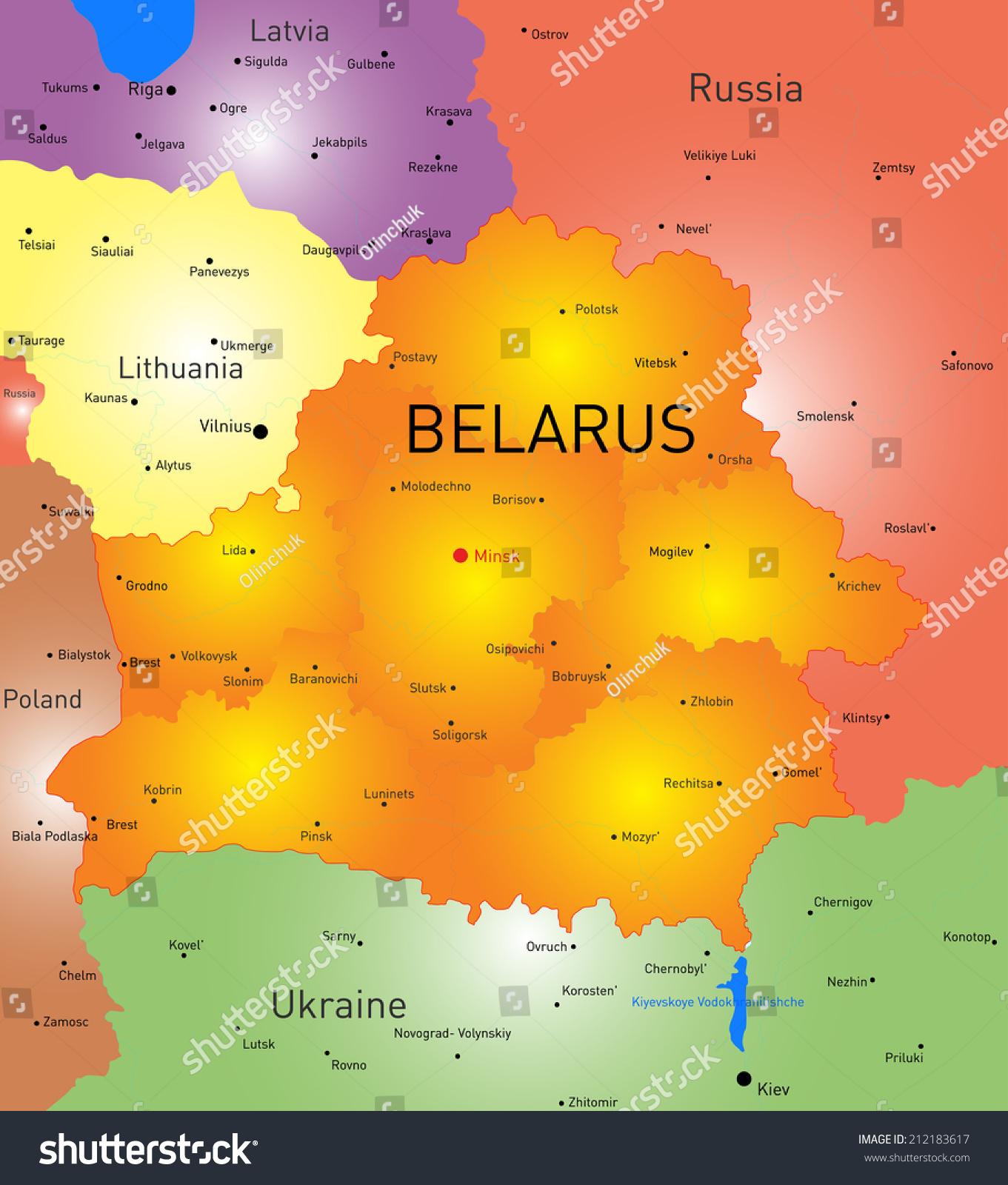 Vector color map belarus country vectores en stock 212183617 vector color map of belarus country gumiabroncs Choice Image