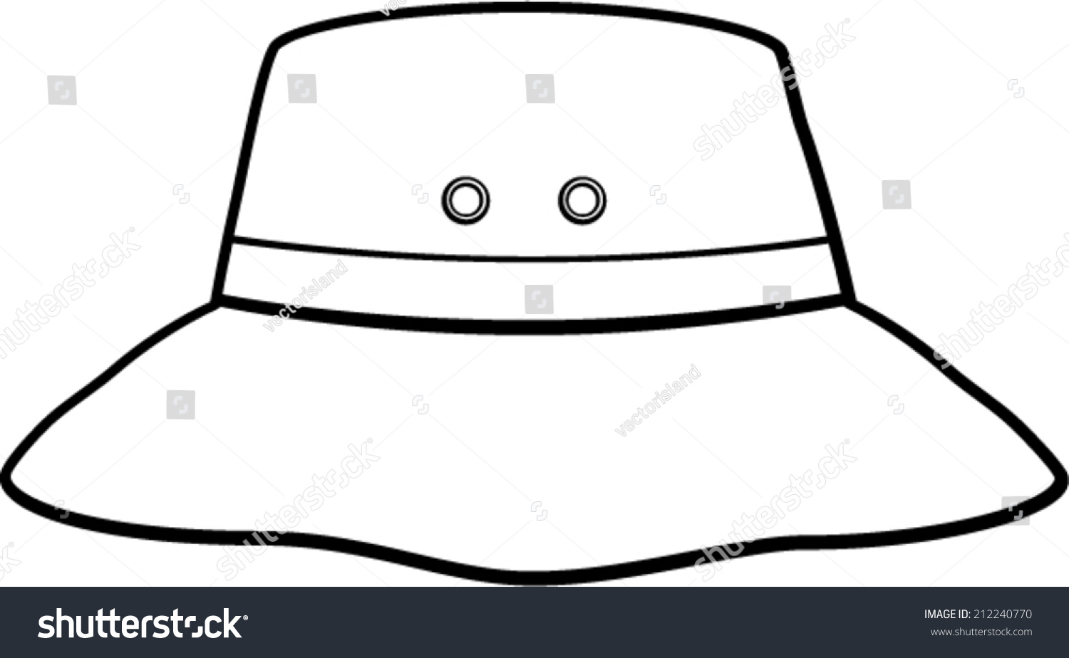 ... promo code bucket hat stock vector royalty free 212240770 shutterstock  b14b1 64586 e27b806f27ca