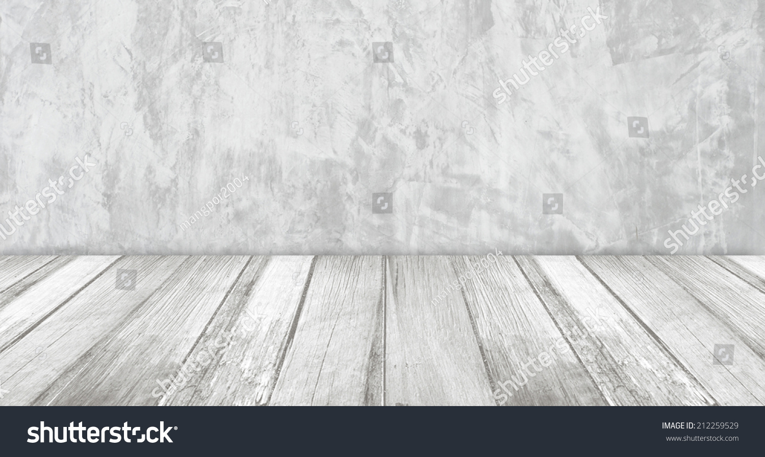 White cement wall and old wood floor  perspective view. White Cement Wall Old Wood Floor Stock Photo 212259529   Shutterstock