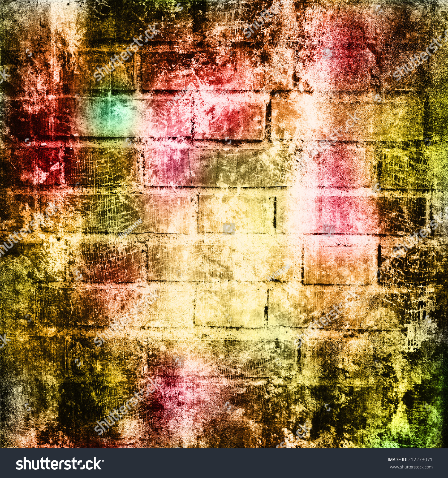 Grunge colorful texture for retro background. With different color ...
