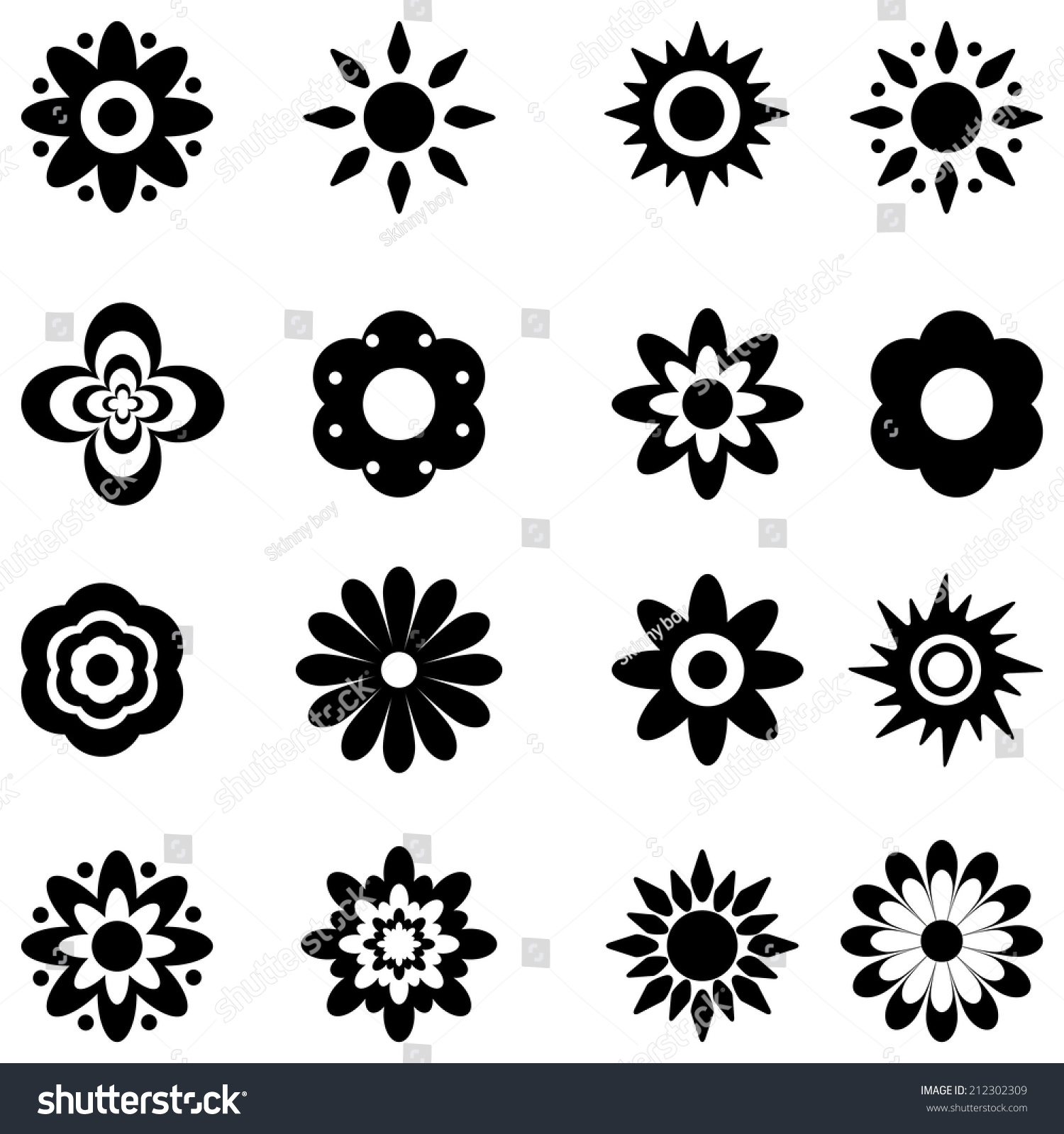 Royalty free flower vector black and white 212302309 stock photo flower vector black and white 212302309 mightylinksfo