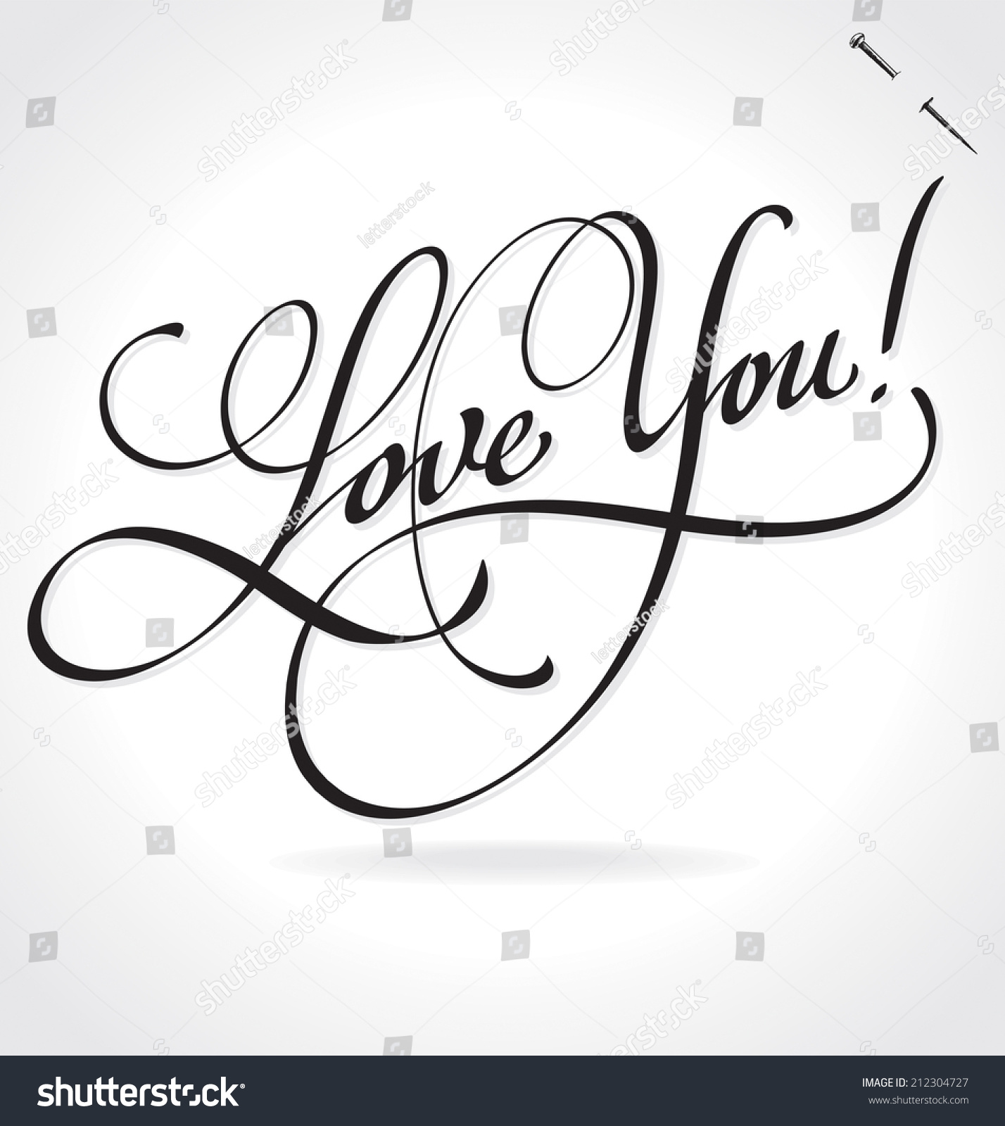 Image gallery i love you calligraphy I love you calligraphy