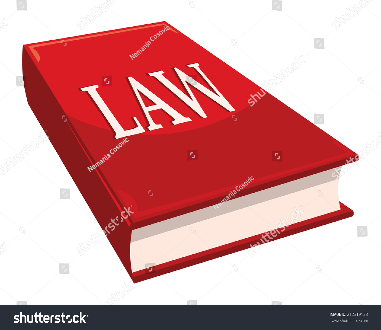 Book about color red - Book With Word Law Red Color