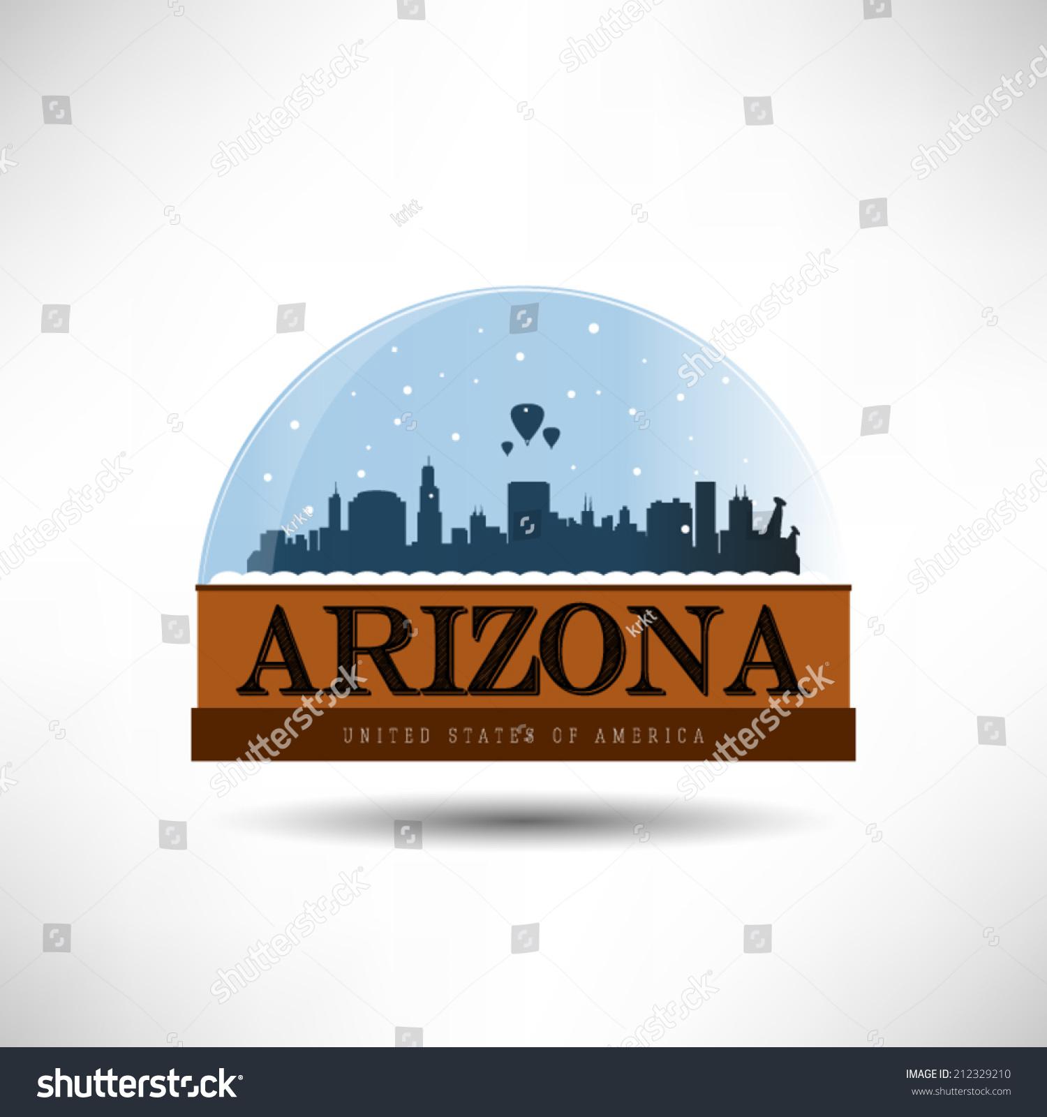 Arizona, United States Of America City Skyline Silhouette