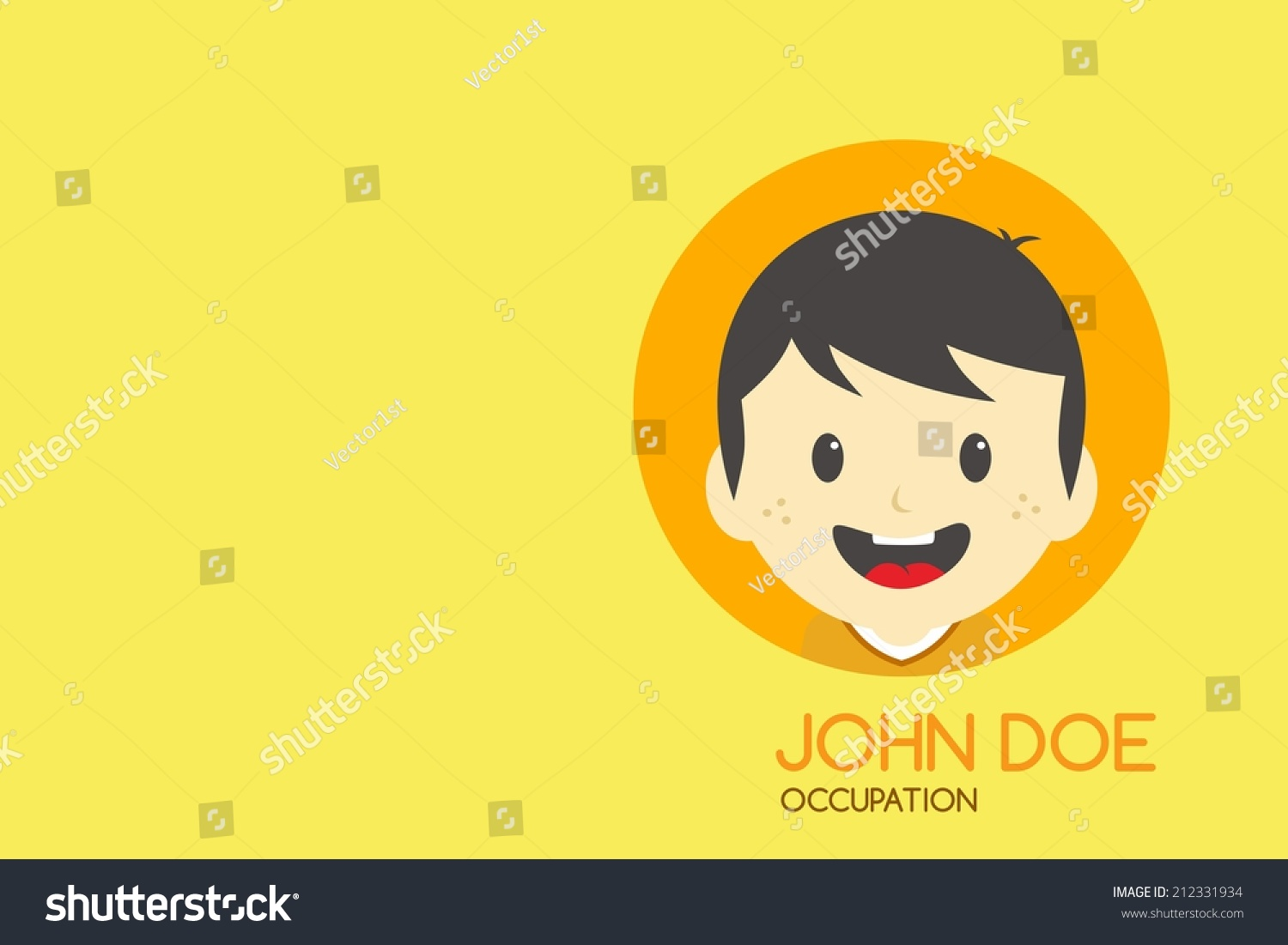 Cartoon Man Theme Business Card Stock Vector 212331934 - Shutterstock