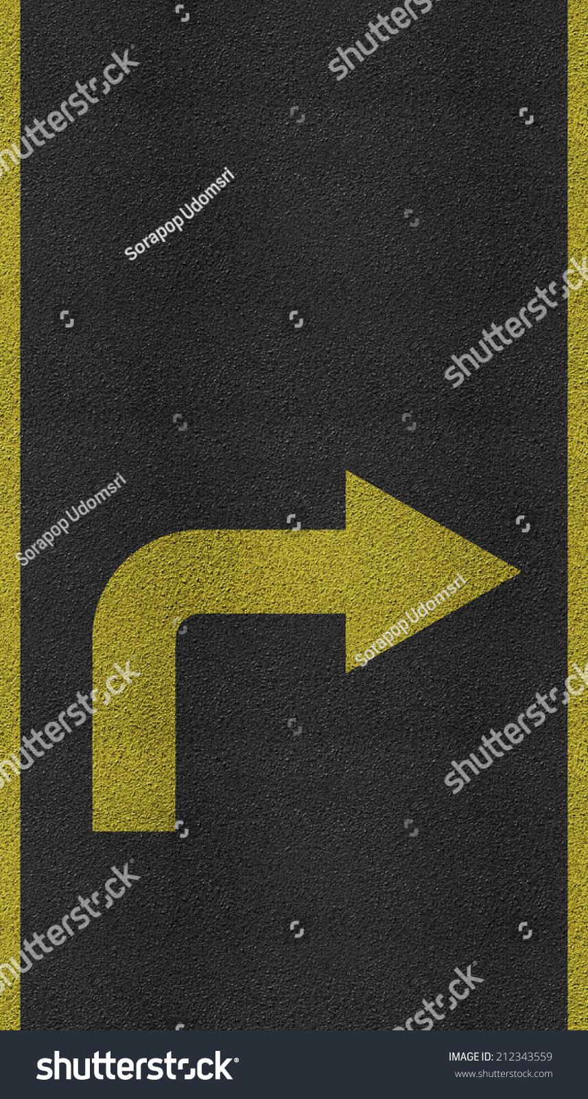 Arrows On Asphalt Road Texture Lines Stock Photo 212343559 ...