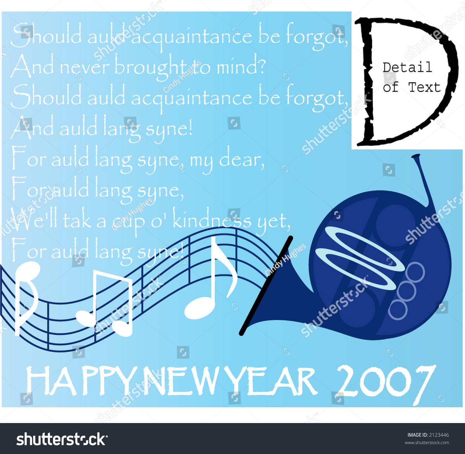 Happy New Year Words New Years Stock Vector 2123446 - Shutterstock