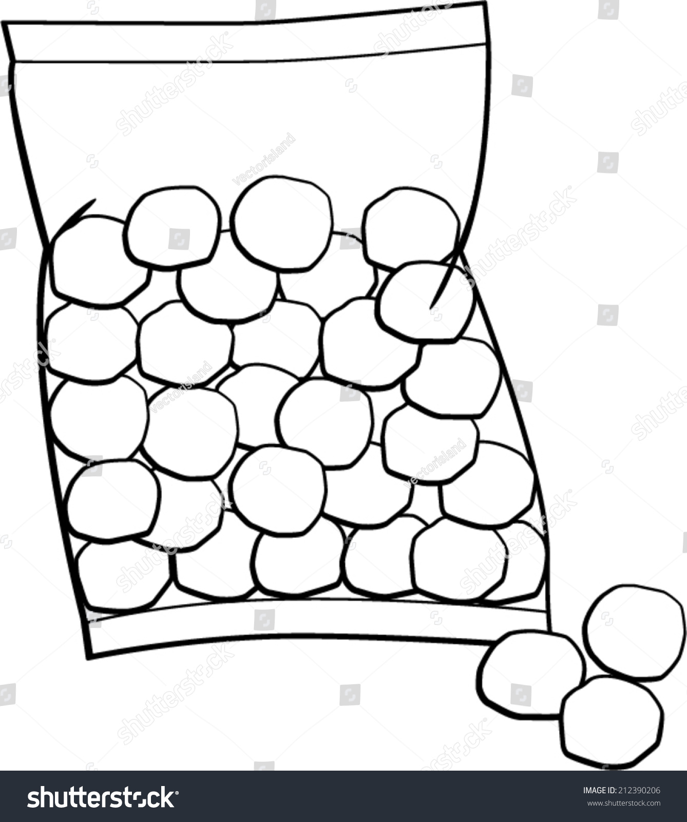 Cotton Balls Bag Stock Vector 212390206 - Shutterstock