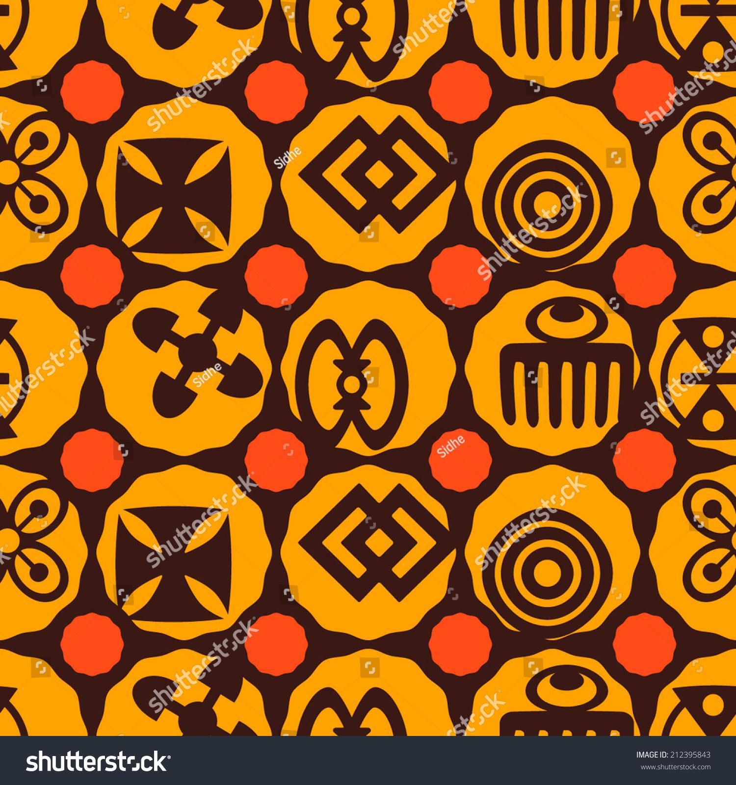 Seamless background adinkra symbols stock vector 212395843 seamless background with adinkra symbols biocorpaavc Images