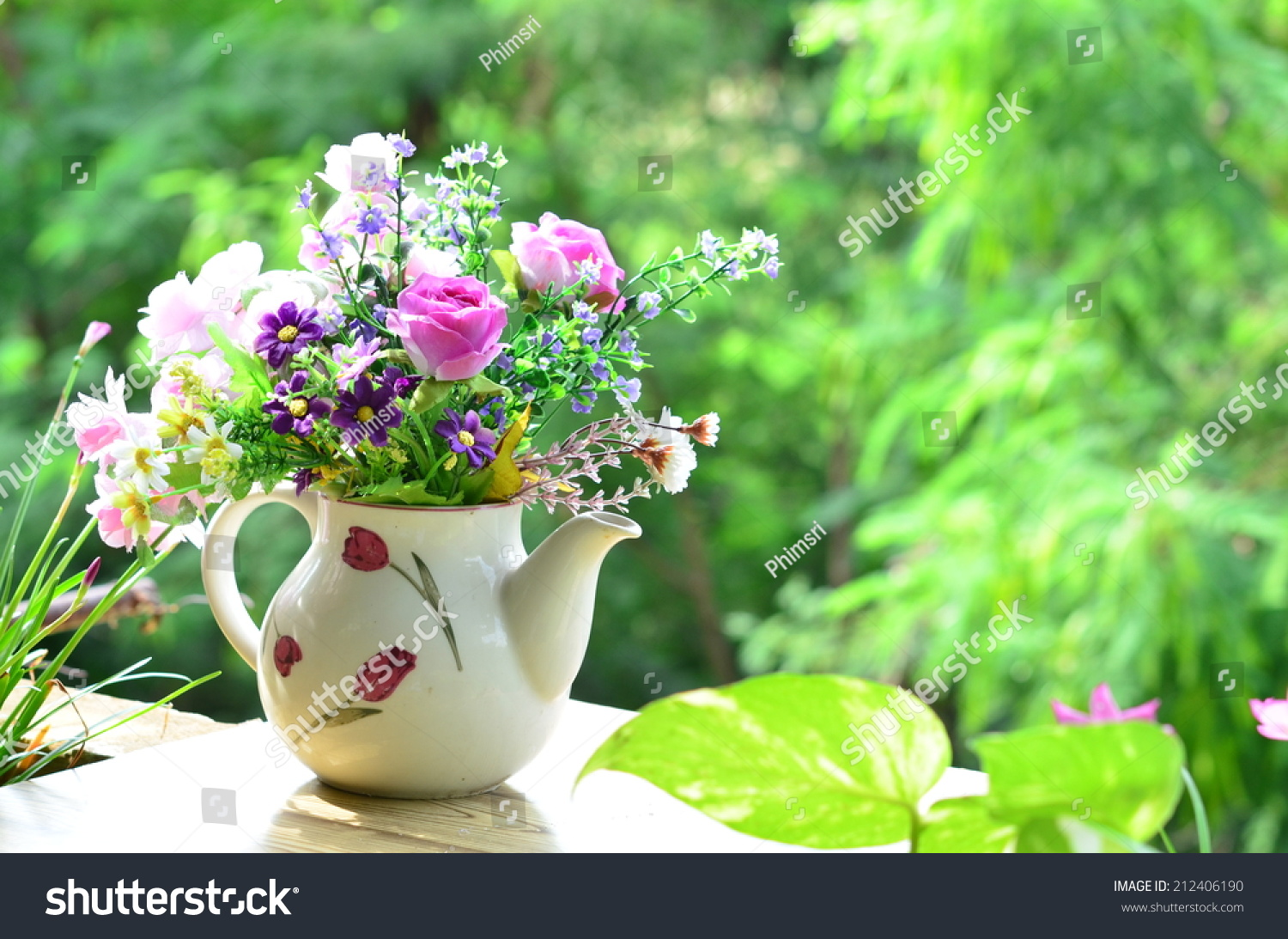 Good Morning Bouquet Flowers Stock Photo (Edit Now) 212406190 ...