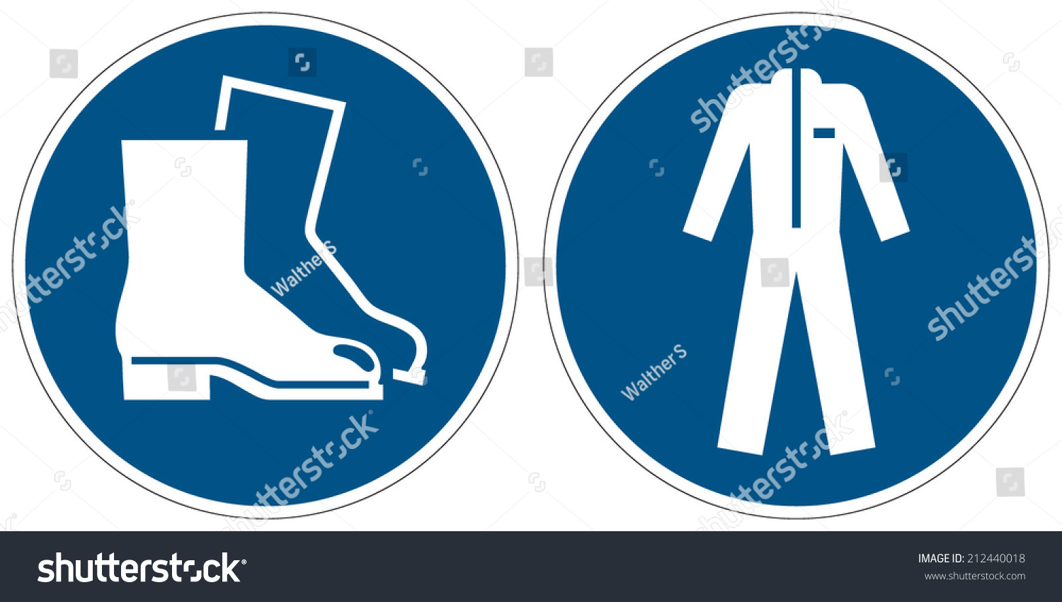 Wear Safety Footwear Wear Protective Clothing Stock Vector 212440018