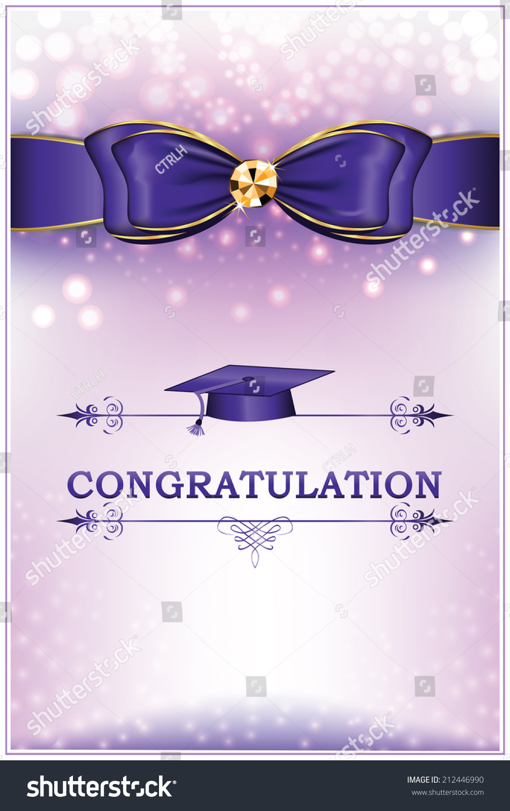 Royalty Free Congratulation Graduation Greeting 212446990 Stock