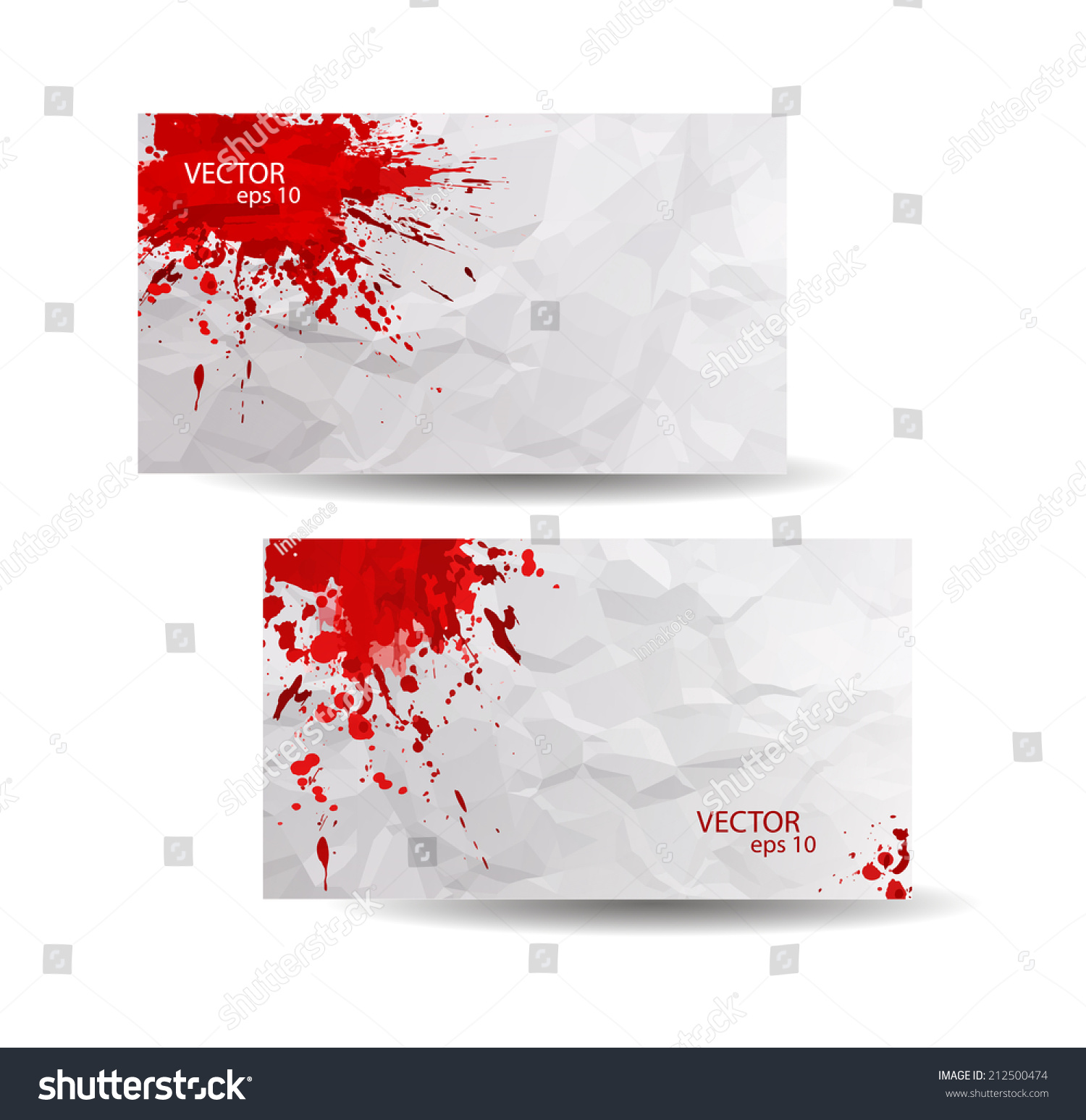 Business cards template red abstract spray stock vector 2018 business cards template with red abstract spray paint crumpled paper background hand drawn colourmoves