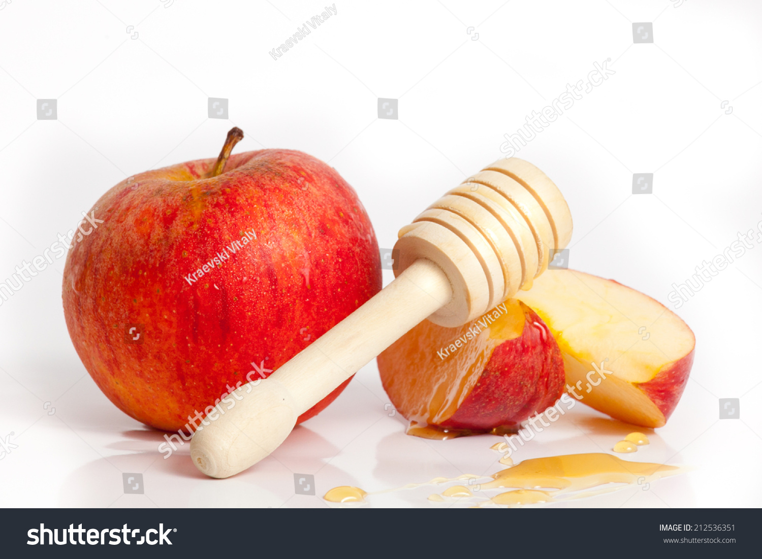 Apple And Honey For Rosh Hashana Jewish New Year Stock ...