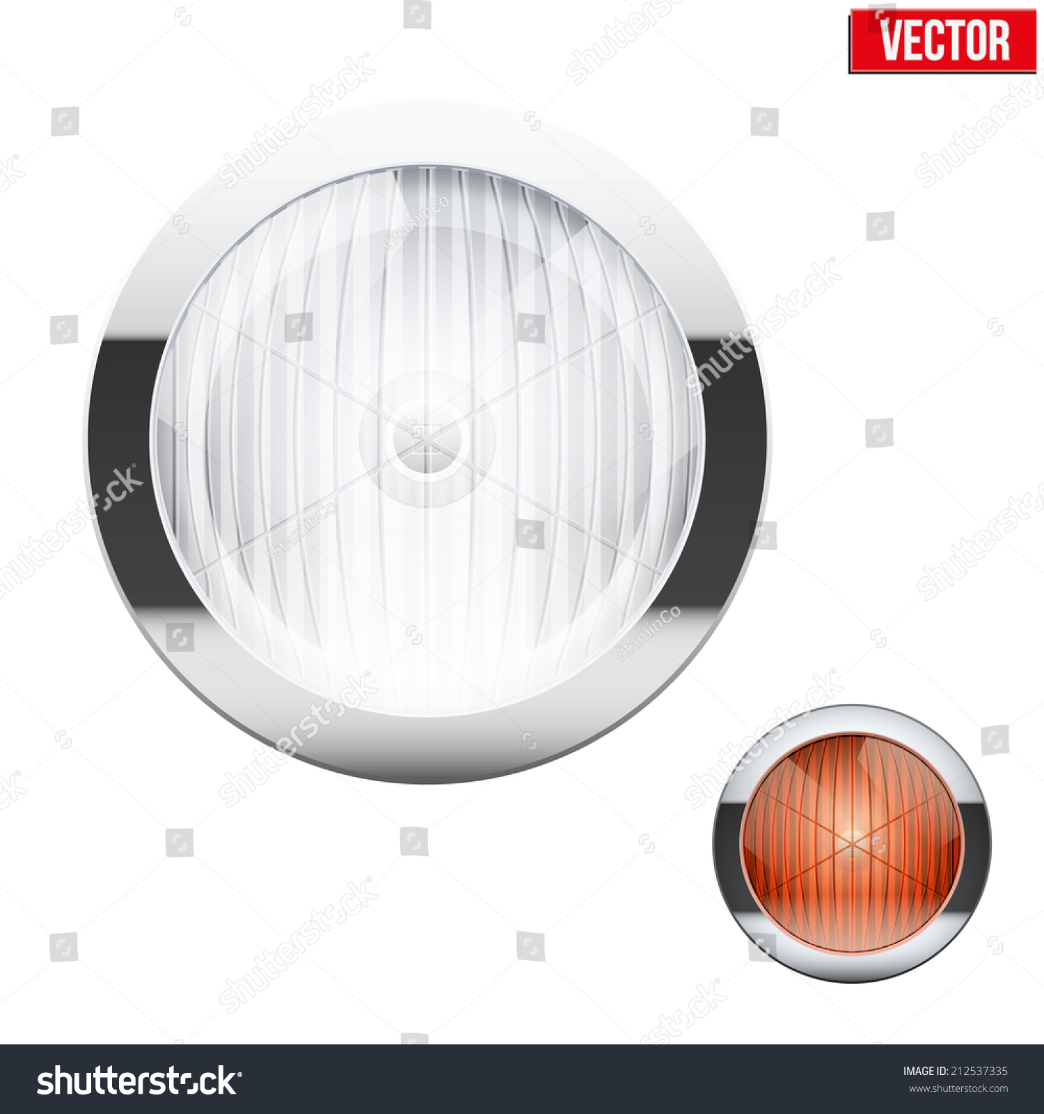 Round Car Headlight Turn Indicator Vintage Stock Photo (Photo ... for Car Lamp Vector  61obs