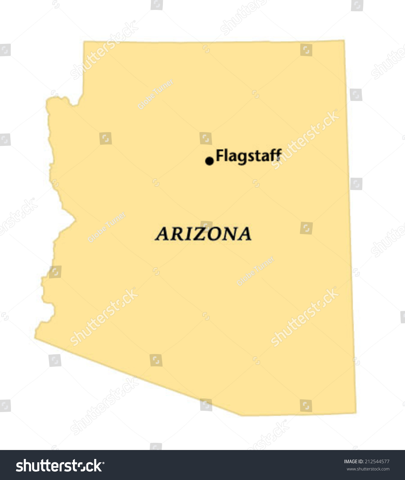 Map Of Flagstaff Arizona.Flagstaff Arizona Locate Map Stock Vector Royalty Free 212544577