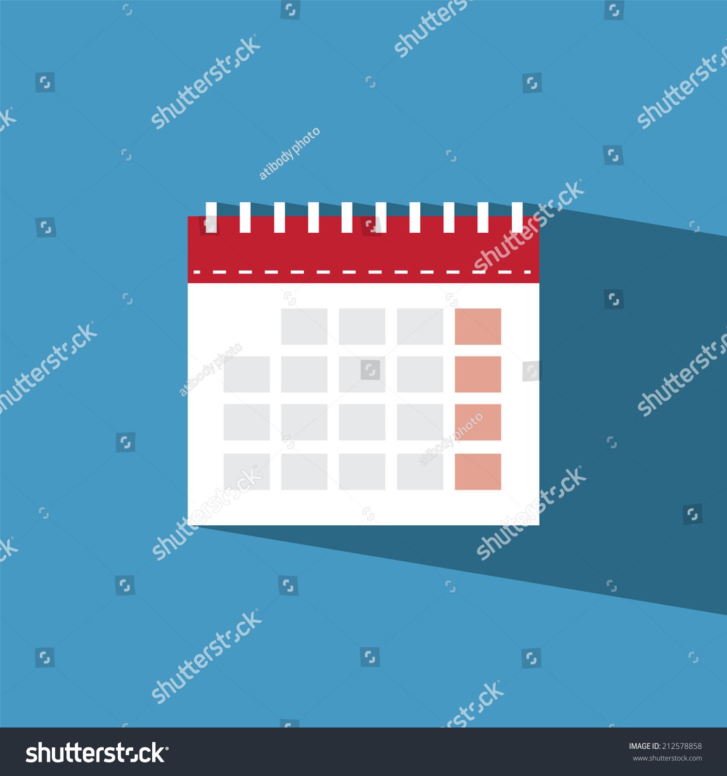 Calendar Flat Illustration : Calendar flat icon vector illustration eps