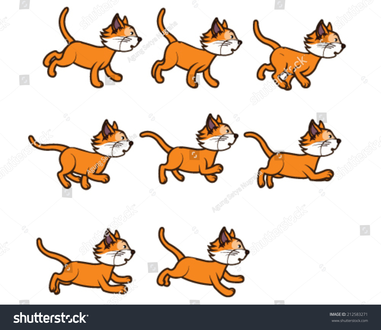 Cat Walking And Jumping Animation