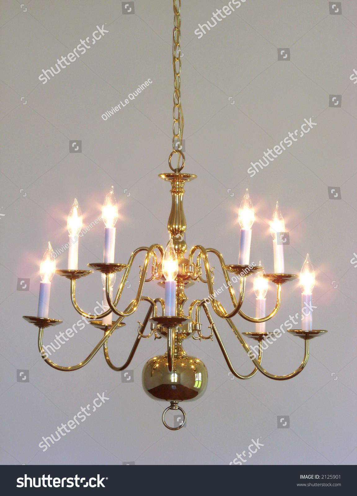 Traditional style home dining room brass stock photo 2125901 shutterstock - Popular chandelier styles ...
