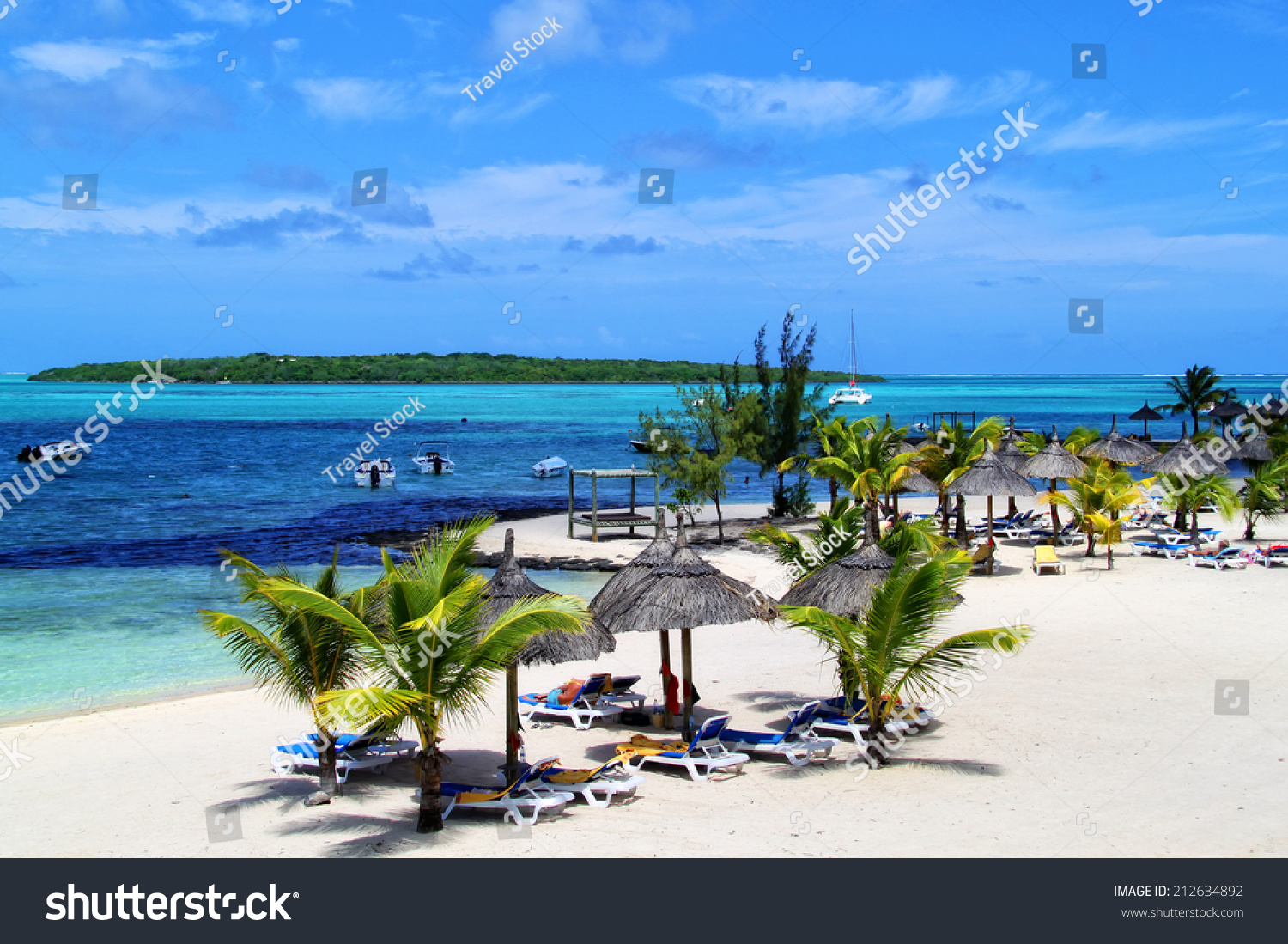 Tropical Island Beach Ambience Sound: Beautiful Tropical Paradise Island Mauritius Stock Photo