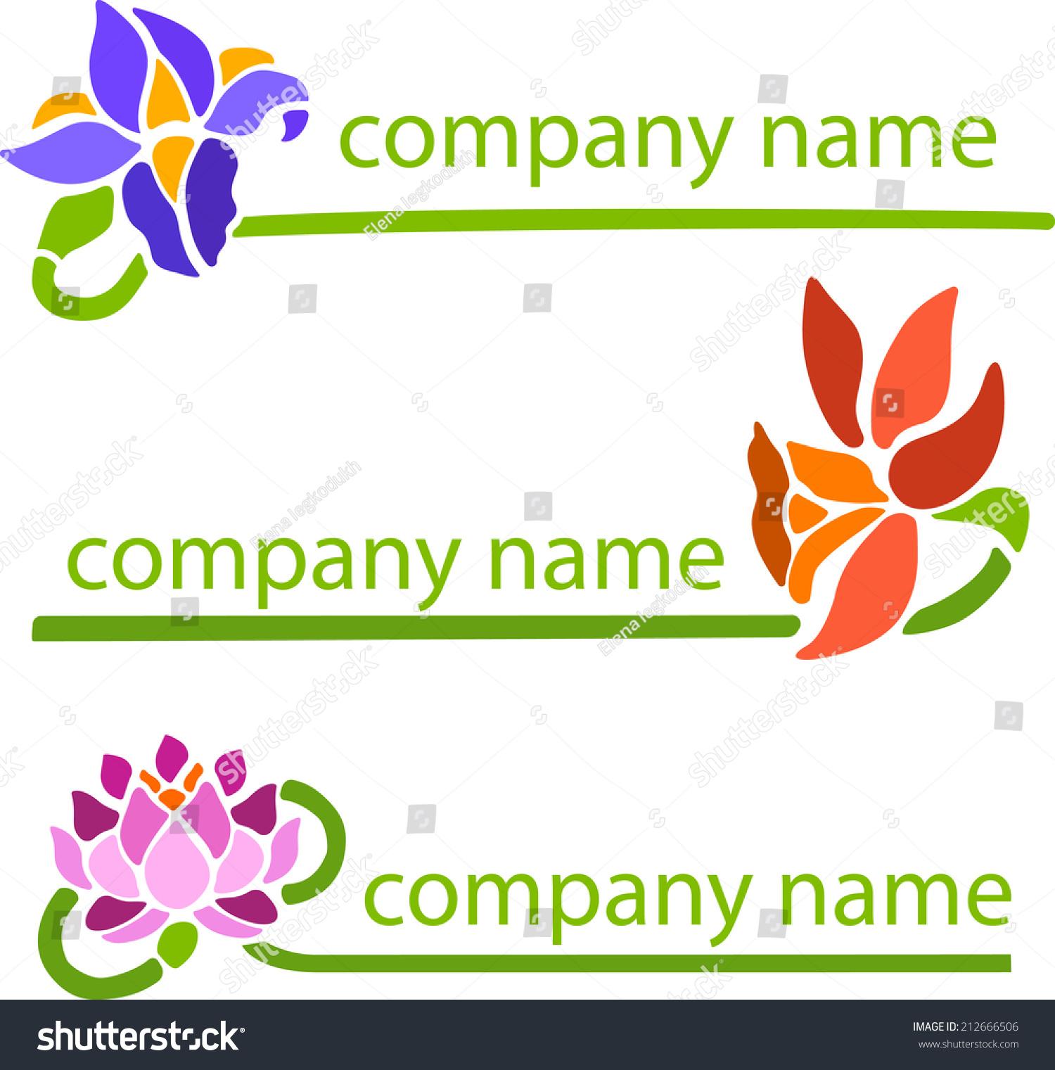 Title companies name company symbol decorative stock vector title companies name of the company symbol of decorative flowers buycottarizona