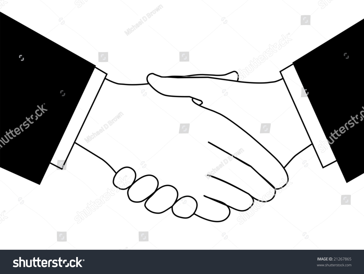 Handshake Clipart Sketch Business People Shaking Stock Vector ...