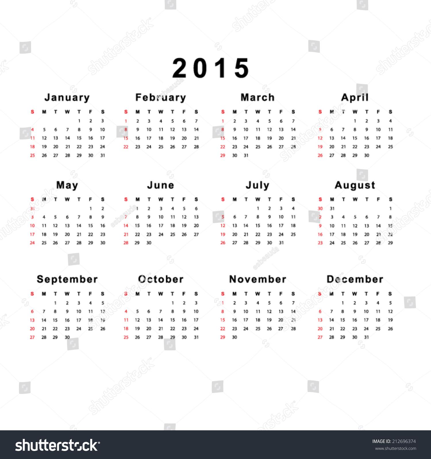 Calendar Template Vector : Template calendar stock vector shutterstock