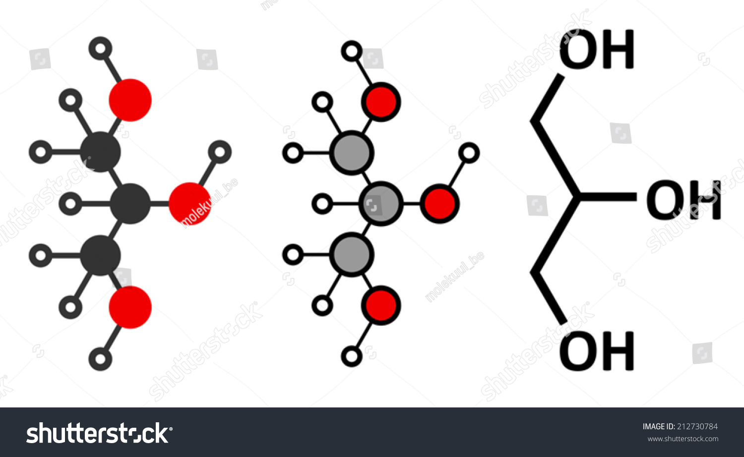 Glycerol Glycerin Molecule Produced Fat Oil Stock Vector 212730784 ...