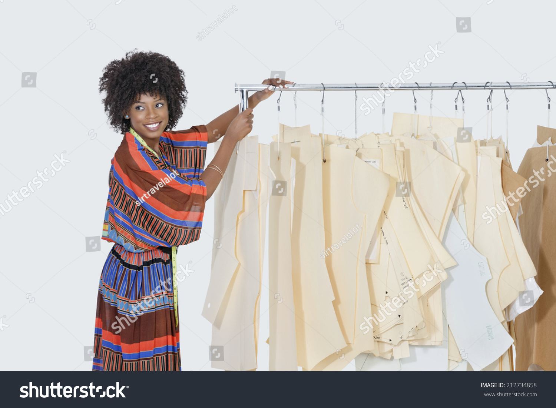 African American Female Designer Sewing Patterns Stock Photo (Edit ...
