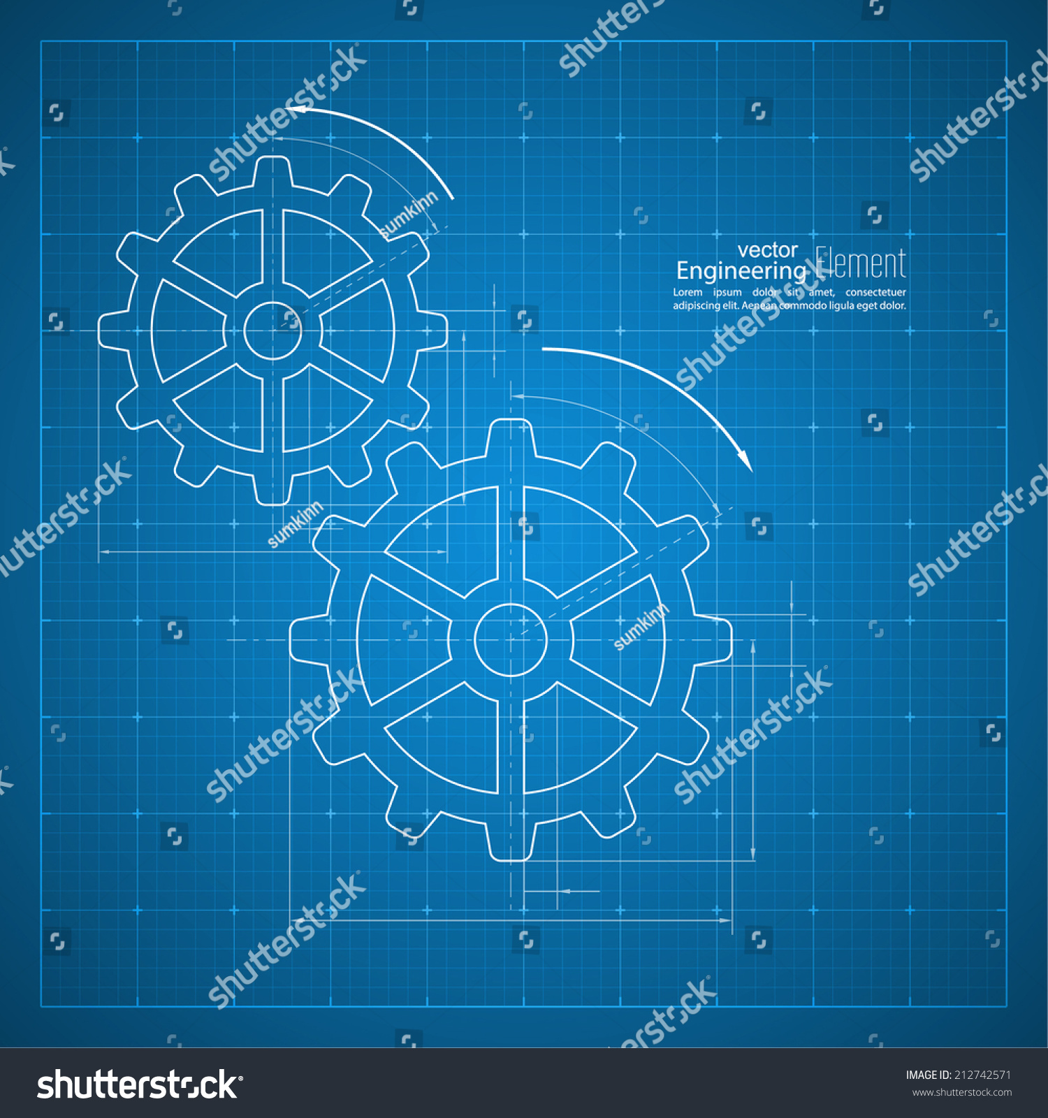 Paper blueprint background gears symbol on stock vector 212742571 paper blueprint background gears symbol on the drawing paper concept of motion and mechanics malvernweather Images