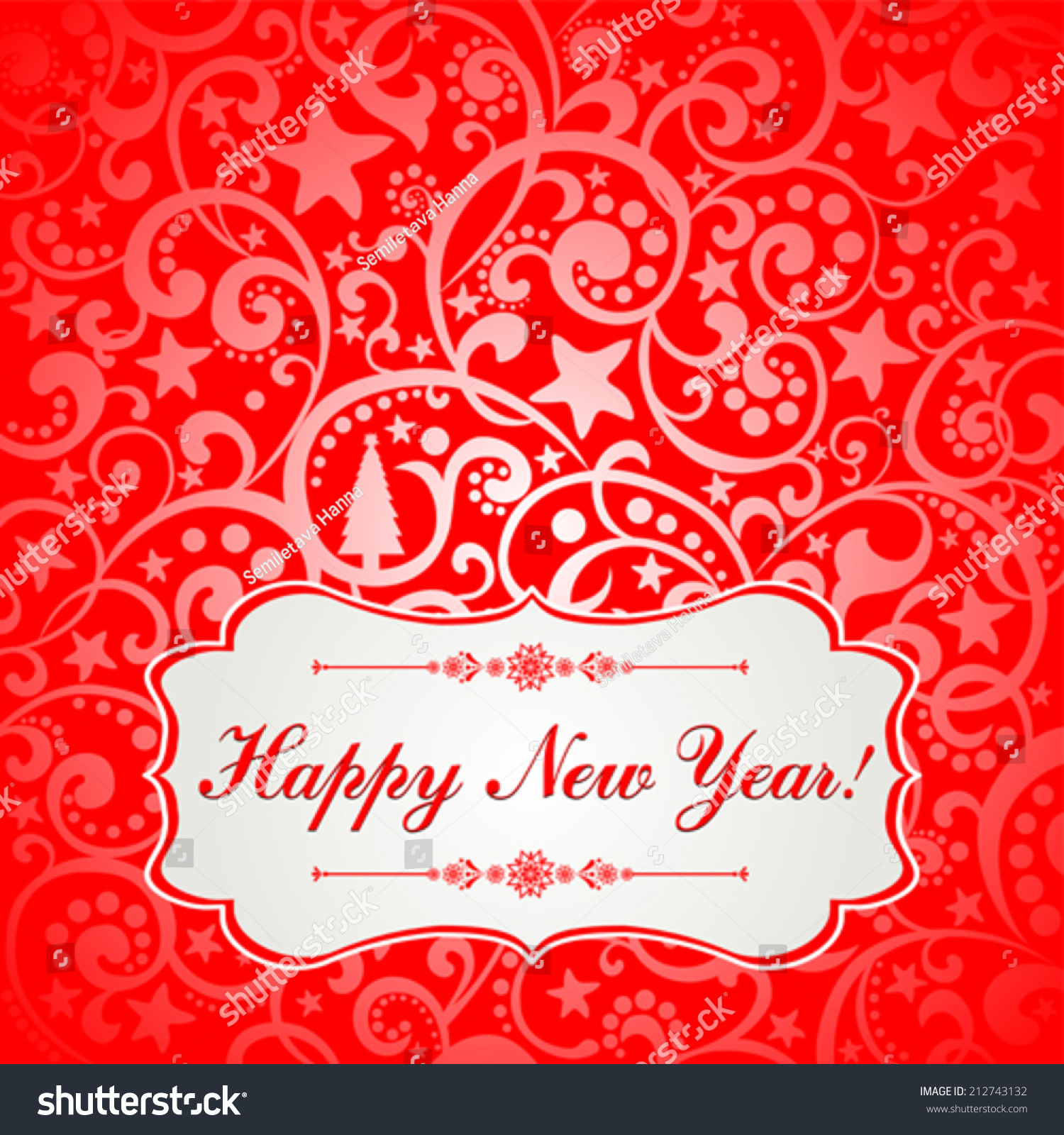 2015 Happy New Year Greeting Card Stock Vector Royalty Free