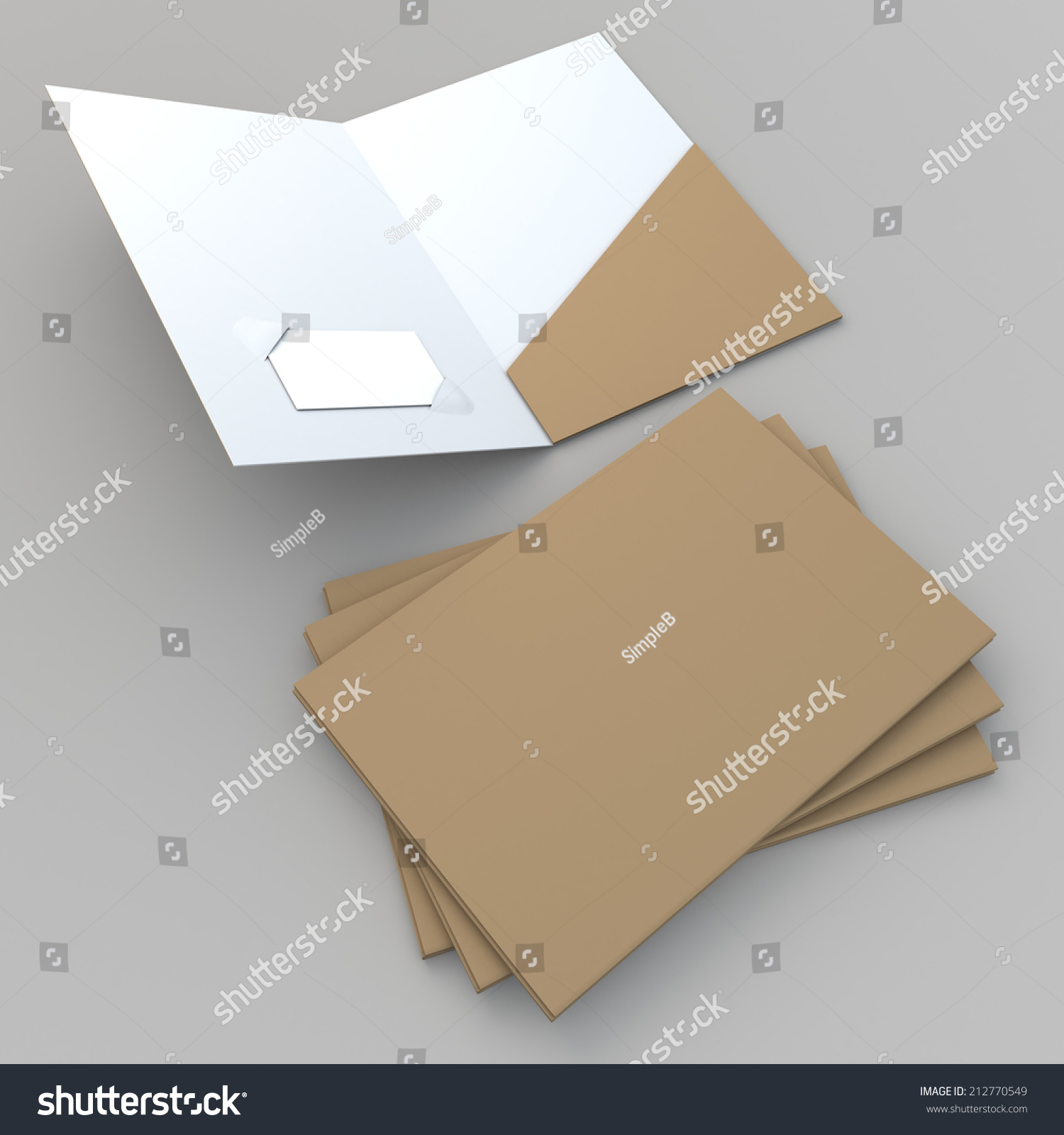 3 D Render Original Brown Clean White Stock Illustration 212770549 ...