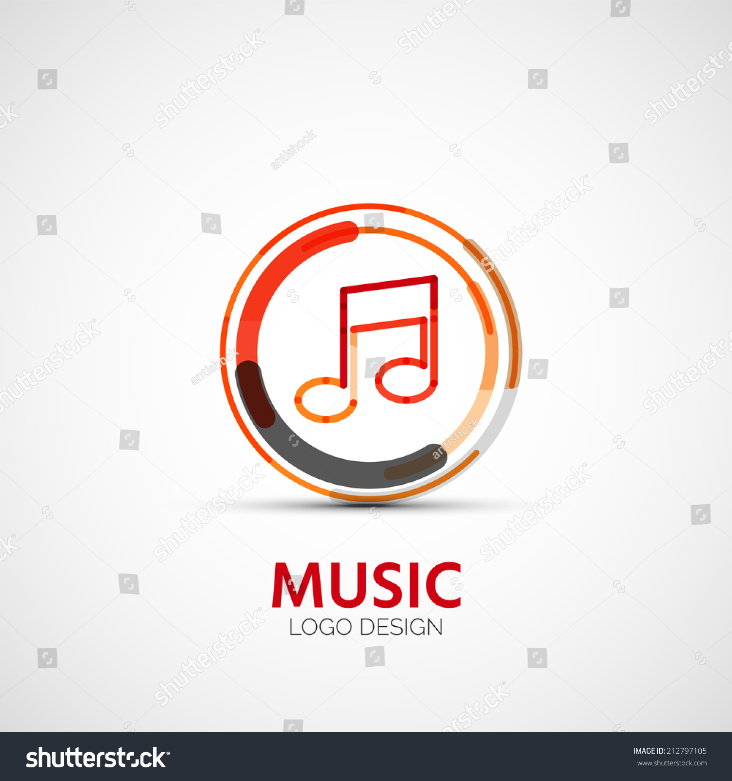 music company logo design, business symbol concept, minimal line design #212797105