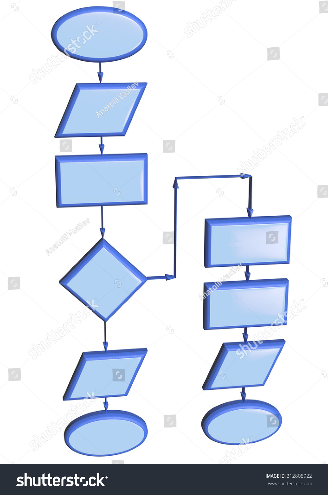 Project Flow Chart Diagram Use Programming Stock Illustration