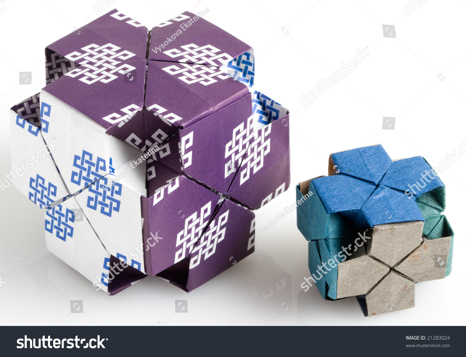 Two Origami Dice Stock Photo Edit Now 21283024 Shutterstock