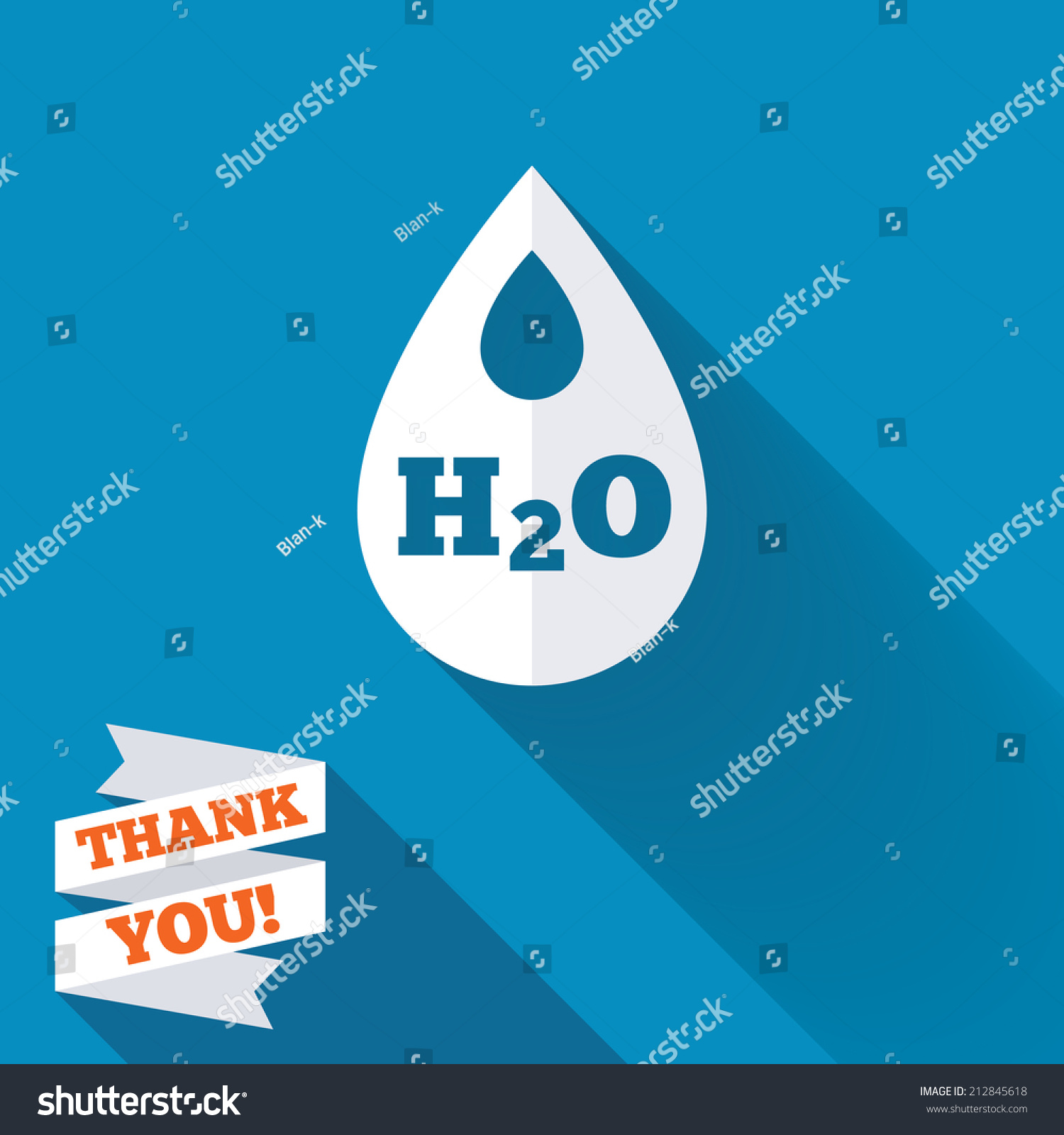 H 2 O Water Drop Sign Icon Tear Stock Illustration 212845618