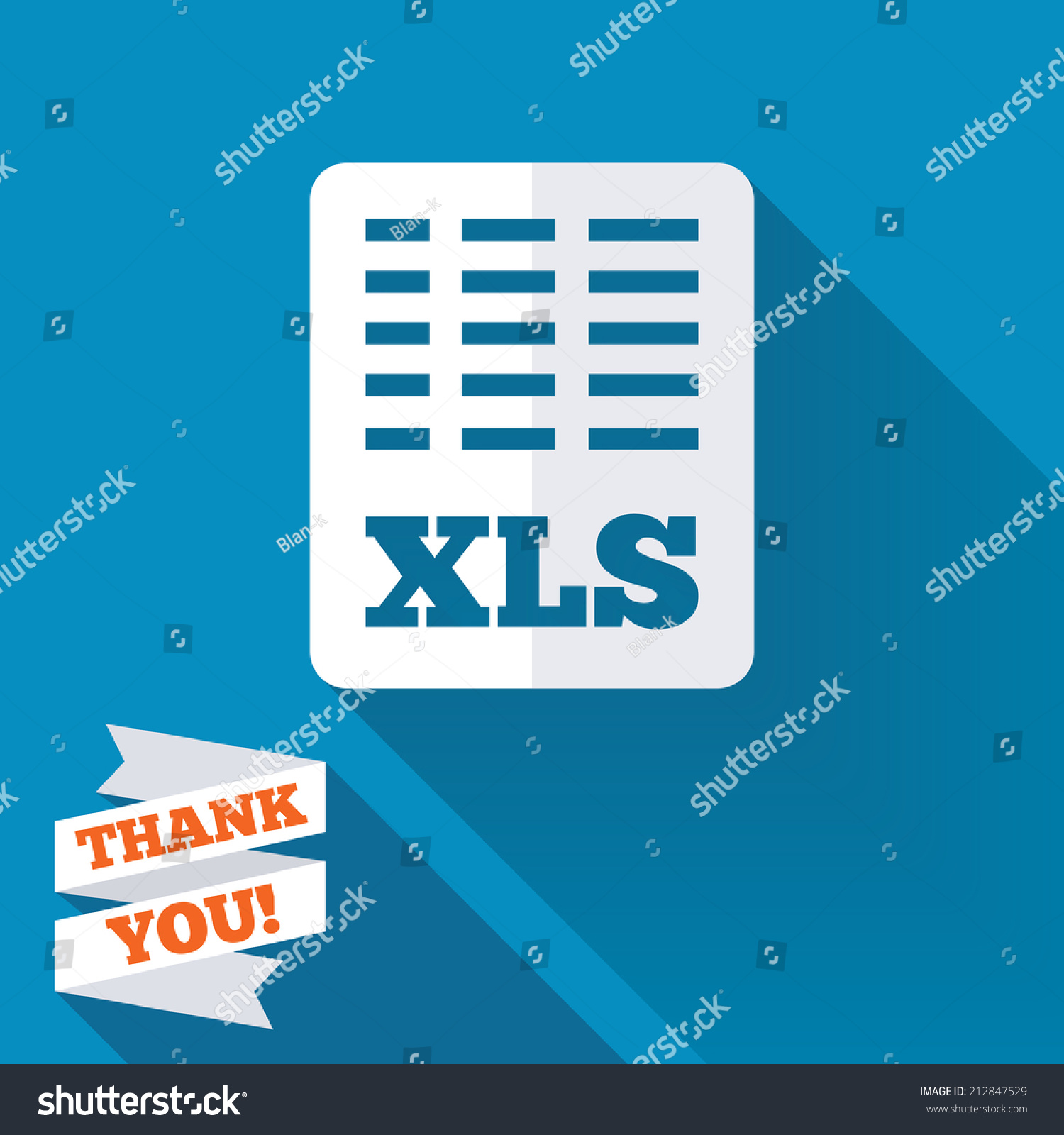 Excel File Document Icon Download Xls Stock Illustration 212847529