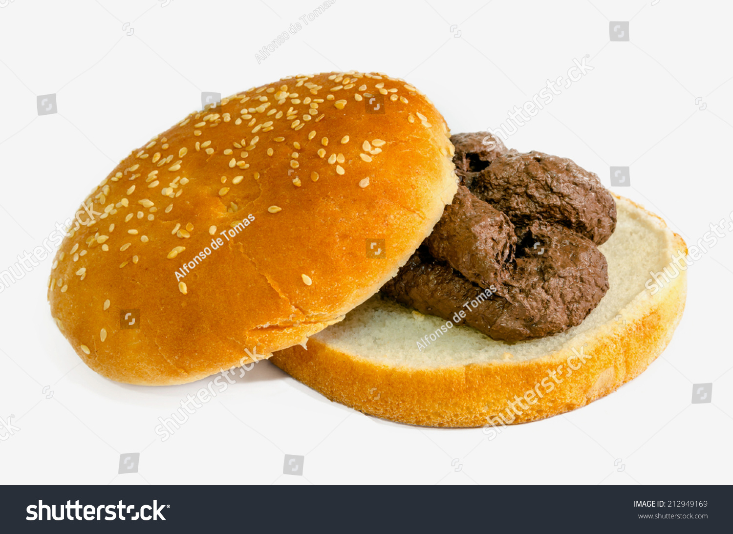 Stock Photo Shit Burger Fast Food Is Garbage Concept Unpleasant Stinky