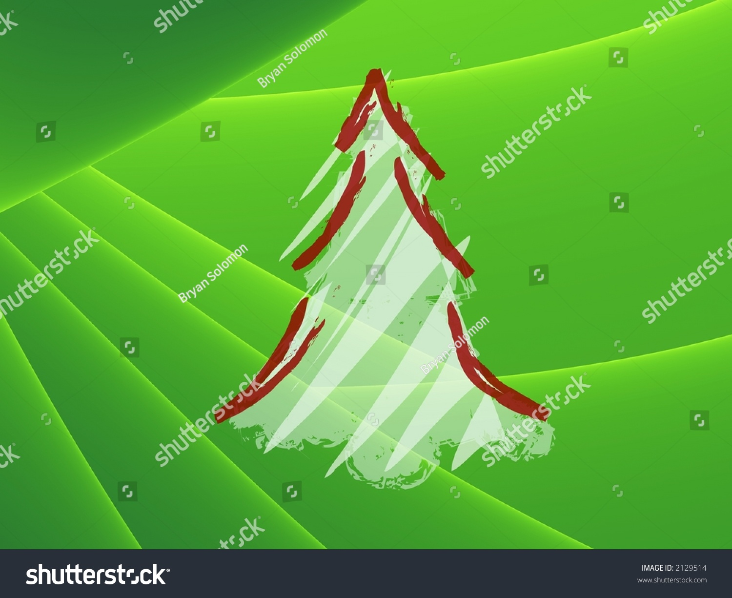 Christmas Tree Pictures High Resolution : Simple christmas tree high resolution illustration