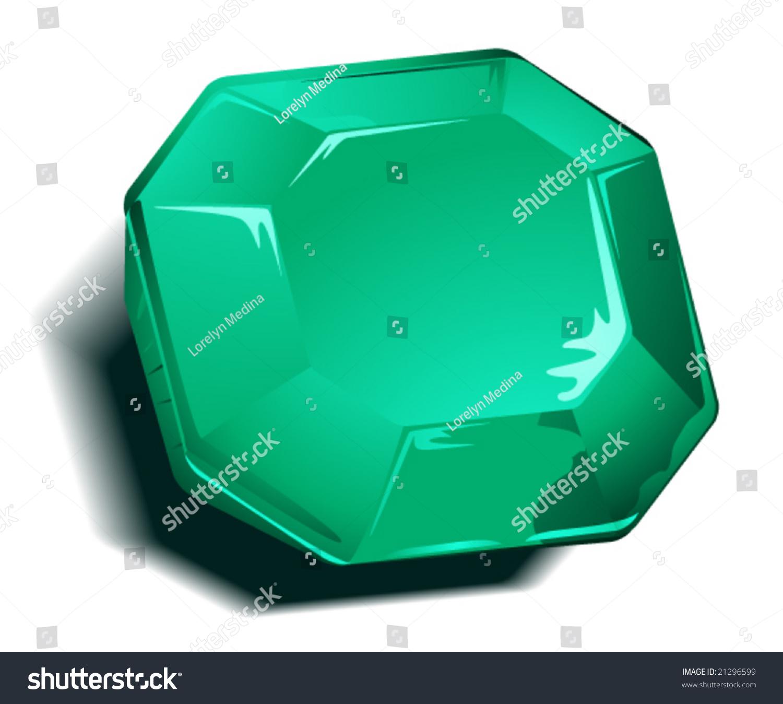 Emerald Birthstone Vector Stock Vector 21296599 - Shutterstock