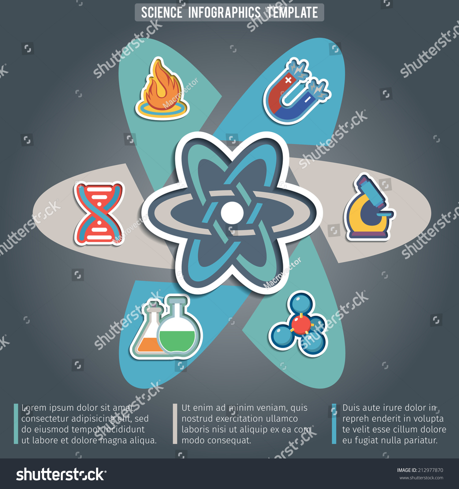 Science Physics From: Physics Science Infographic Template With Laboratory