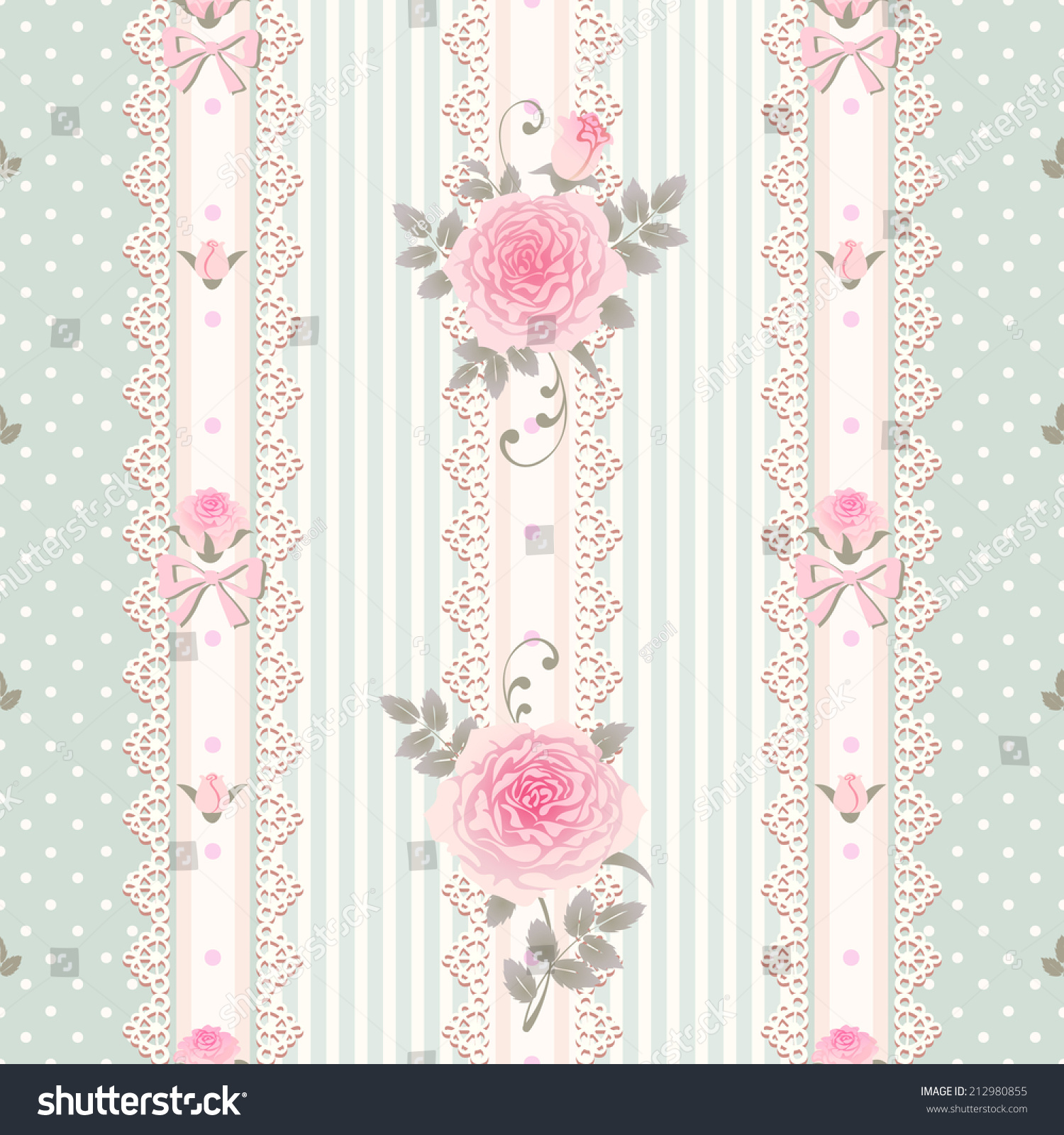 Seamless floral background vector polka dot stock vector for Striped and polka dot pumpkins