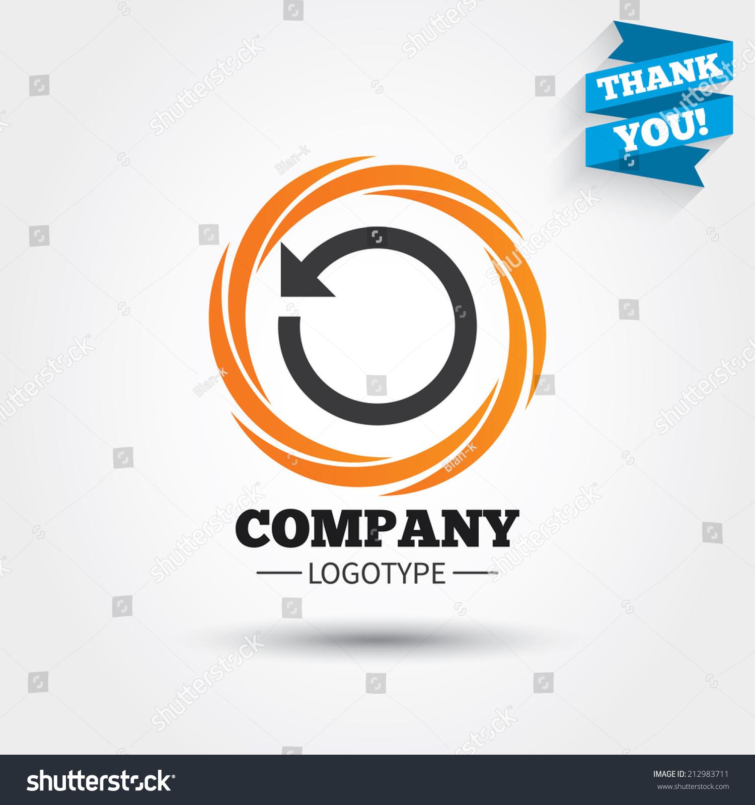 Repeat Icon Refresh Symbol Loop Sign Stock Vector 212983711