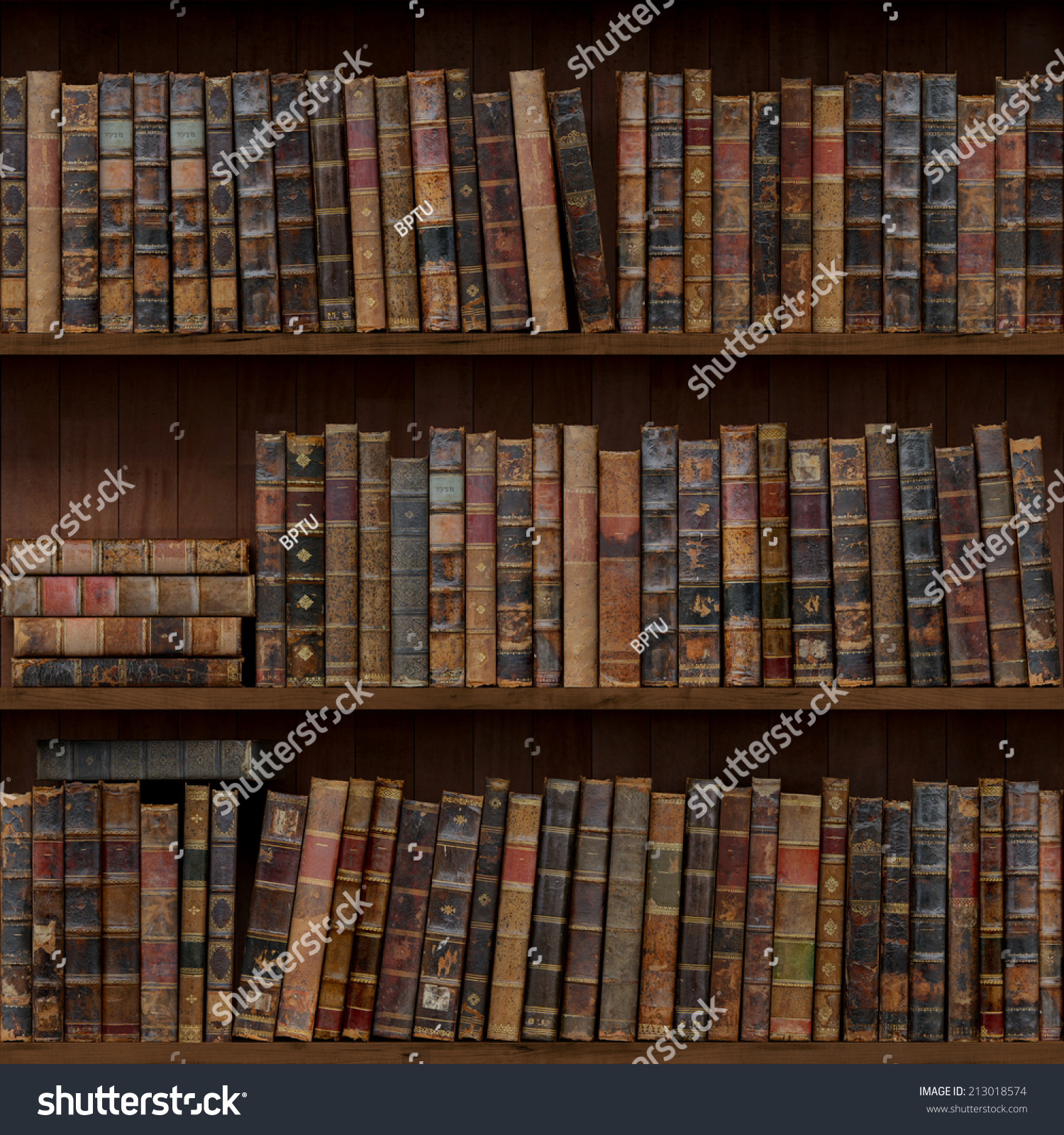 Hardcover Book Texture : Old books seamless texture stock illustration