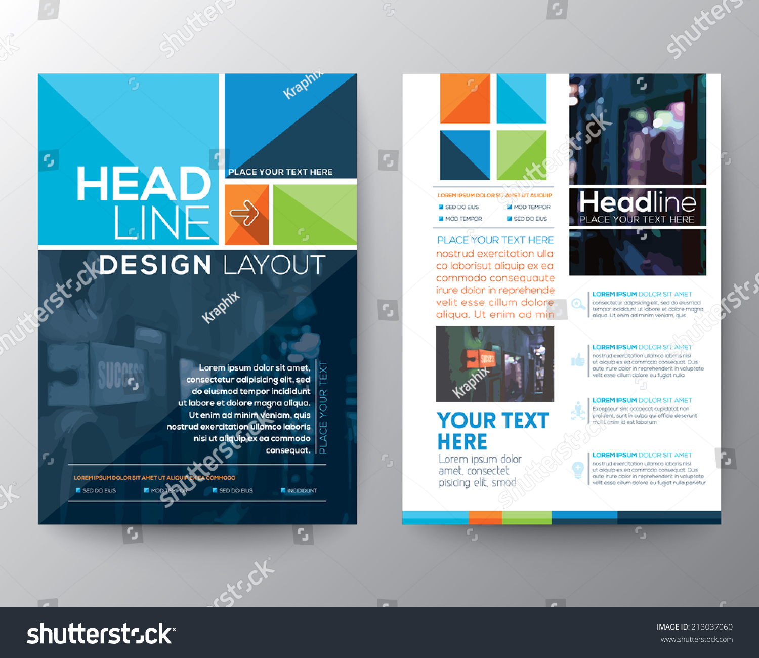 Vector Brochure Flyer Design Layout Template Vector – Pamphlet Layout Template